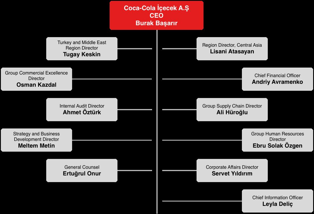 coca cola organizational structure 2018