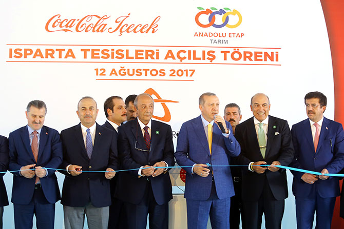Coca-Cola Içecek And Anadolu Etap Inaugurate New Plants In Isparta, Turkey